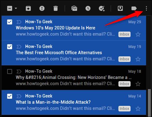 المزيد من رمز Gmail