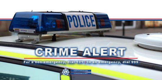 Hertfordshire Police crime alert graphic