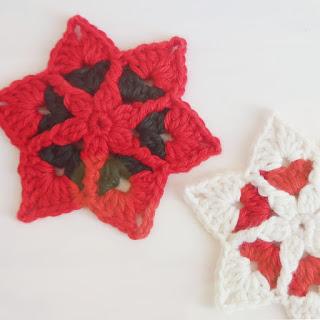 estrella navidad a crochet paso a paso