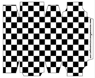 Quadriculado Preto E Branco Kit Completo Com Molduras Para