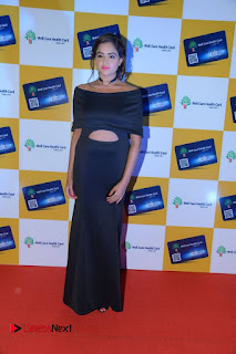 Asmita Sood Pictures in Black Dress at Well Care Health Card Launch ~ Celebs Next