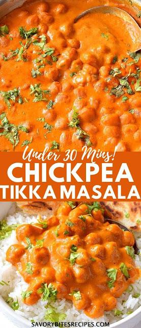 under 30 mins chickpea tikka masala