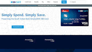 South Indian Bank Simply Save SBI Card,  How to Apply SBI Credit Card Online