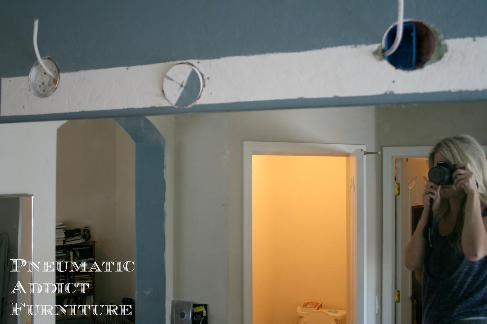 Bathroom Upgrade Part 1 Splitting The Vanity Light Pneumatic Addict Basement Wiring Diagram Before Installing