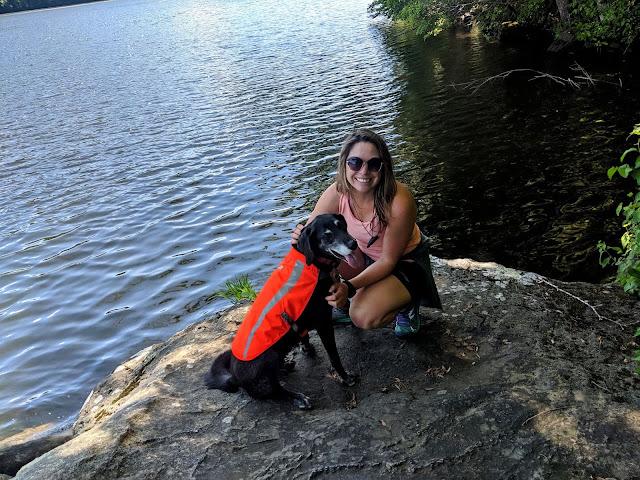 Paugussett State Forest Blue Blazed Zoar Trail dog Lake Zoar
