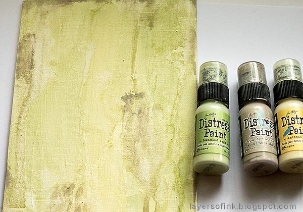 Layers of ink - Cherish Mixed Media Panel by Anna-Karin Evaldsson