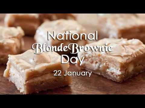 National Blonde Brownie Day Wishes Beautiful Image