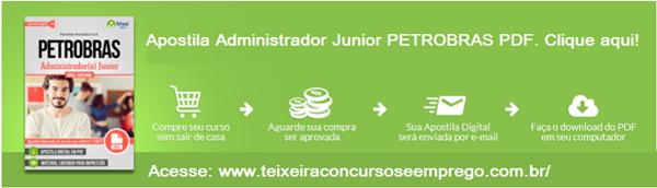 Apostila PDF PETROBRAS Administrador Junior .