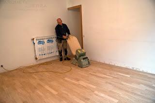 cómo lijar suelo de madera