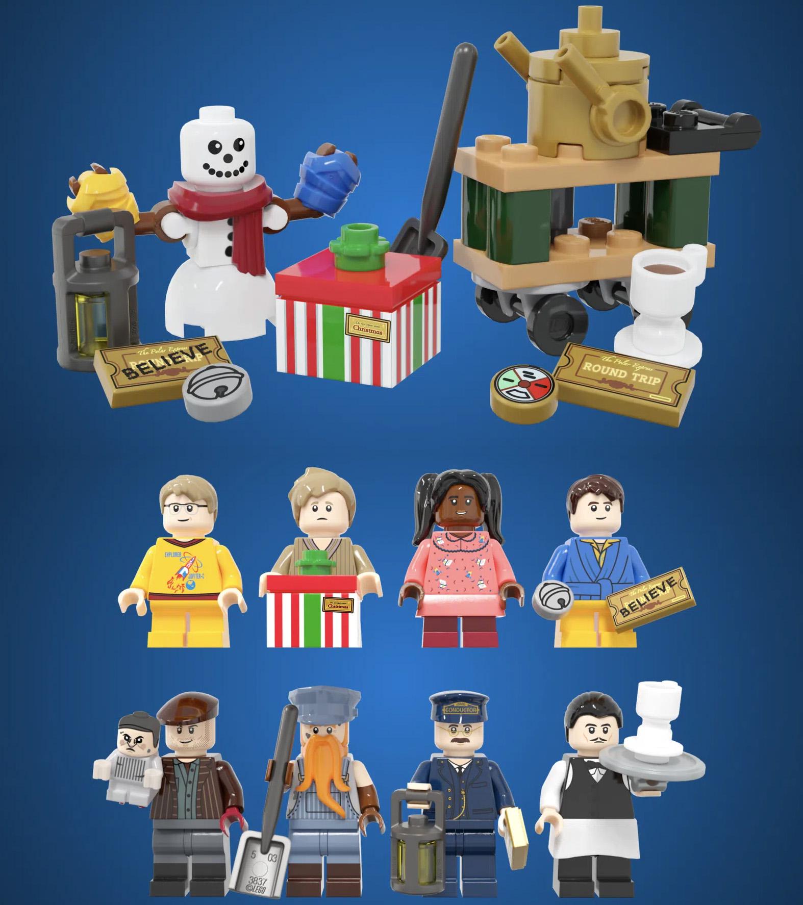 レゴアイデアで『ポーラー・エクスプレス』が製品化レビュー進出!2021年第1回1万サポート獲得デザイン紹介