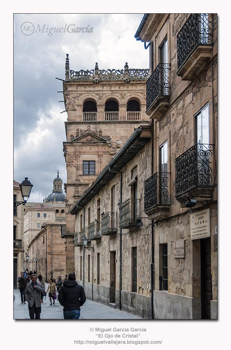 Calle de Bordadores y Palacio de Monterrey, Salamanca.