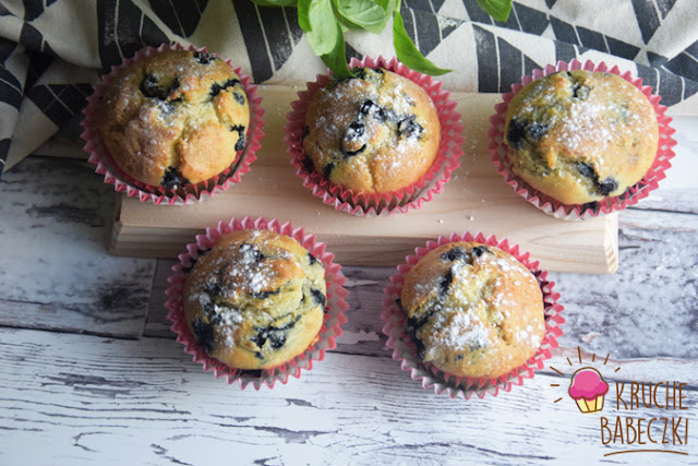 Muffiny na kefirze z jagodami