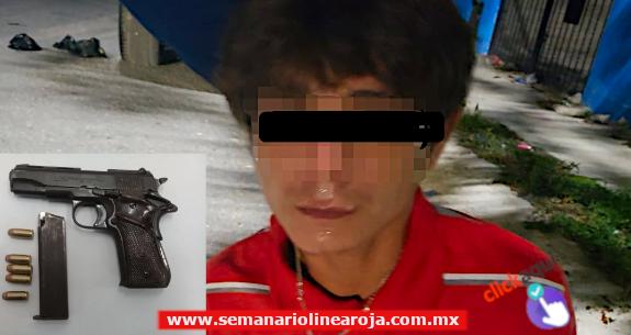 Policía Municipal captura a asaltante armado