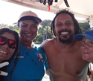Cantor Marcelo Falcão, da Banda O Rappa, faz visita em Georgino Avelino