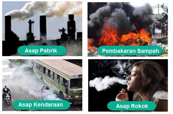 penyebab Pencemaran Udara