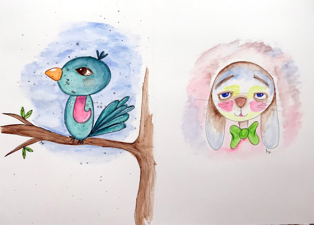 my little bird drawing a la Mindy Lacefield and one of her art classes.