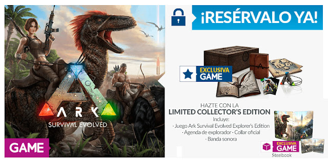 No te pierdas la espectacular edición limitada exclusiva de GAME de ARK: Survival Evolved