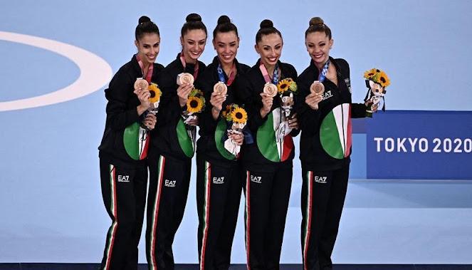 Le Farfalle della ginnastica ritmica portano all'Italia un altro bronzo e voliamo a 40 medaglie