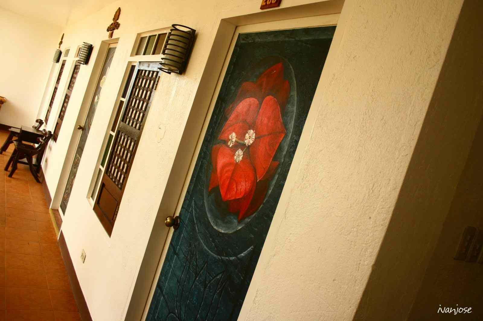 Hand-painted doors in Sarangani Highlands in Mindanao