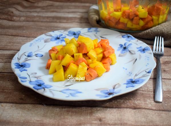 Ensalada de Papaya y Mango. Vídeo Receta