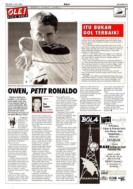 WORLD CUP 1998 MICHAEL OWEN ENGLAND