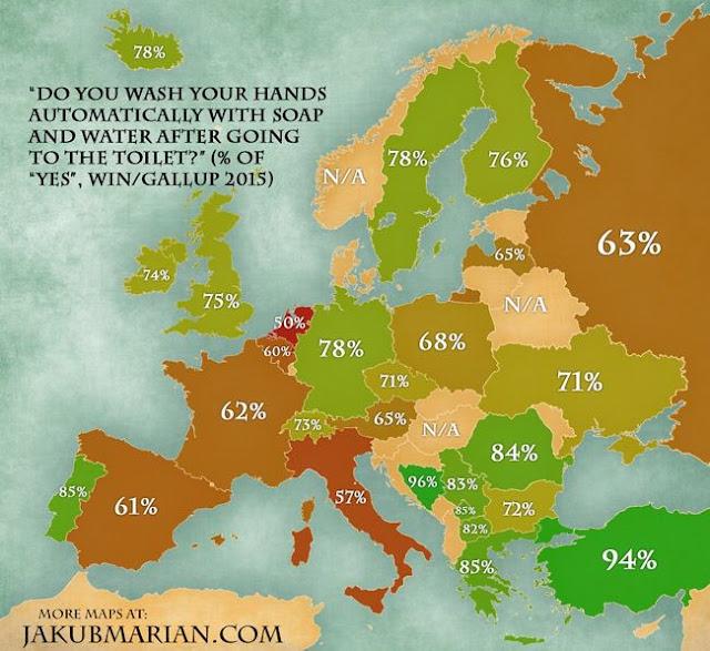 غالبية شعوا أوروبا وعمال المطعم الصينية والكورية لا يغسلون ايديهم بعد خروجهم من المرحاض.. ماذا تعرف عن اليوم العالمي لغسيل اليد؟