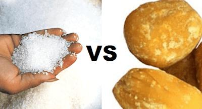 Sugar vs Jaggery in tamil