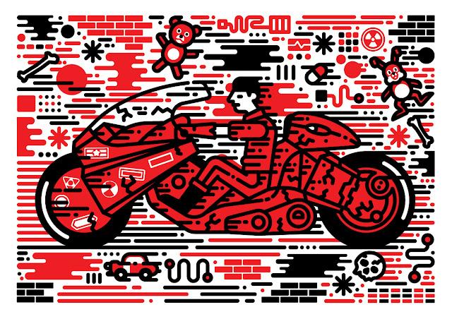 Kaneda Power Bike Illustration by Sam Peet