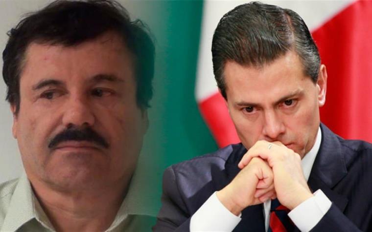 """Peña Nieto buscó a """"El Chapo"""" y le pidió un pago de 250 millones de dólares, El presidente quería """"trabajar con él""""."""
