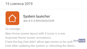 Aktualizacja system launcher w Xiaomi