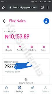 Flex naira Dasboard