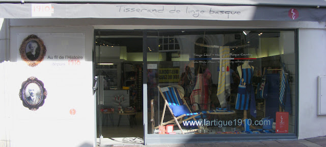 Lartigue boutique, Saint Jean de Luz. Pyrenees-Atlantiques. France. Photographed by Susan Walter. Tour the Loire Valley with a classic car and a private guide.