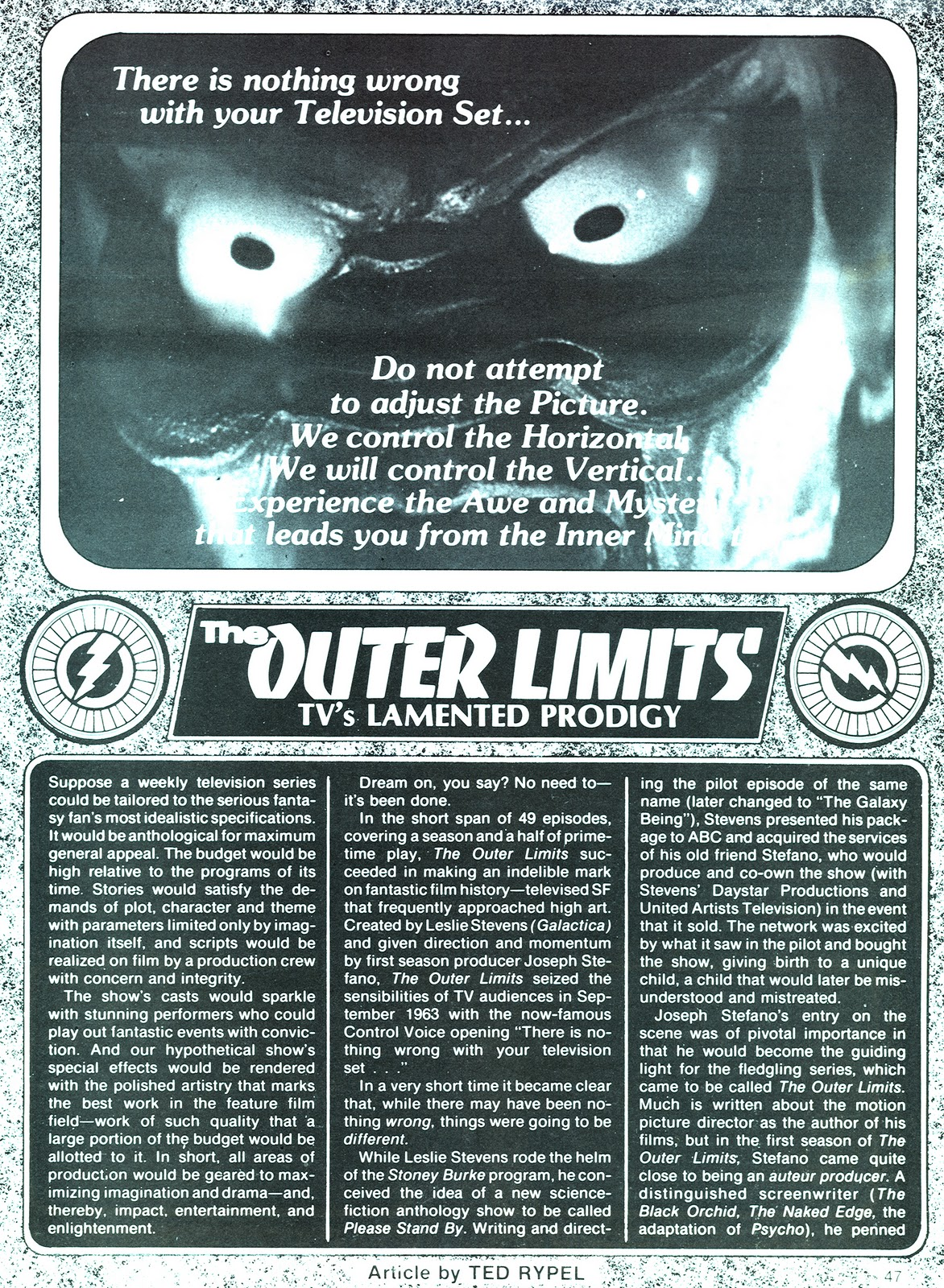 We Are Controlling Transmission: In The Outer Limits Tavern