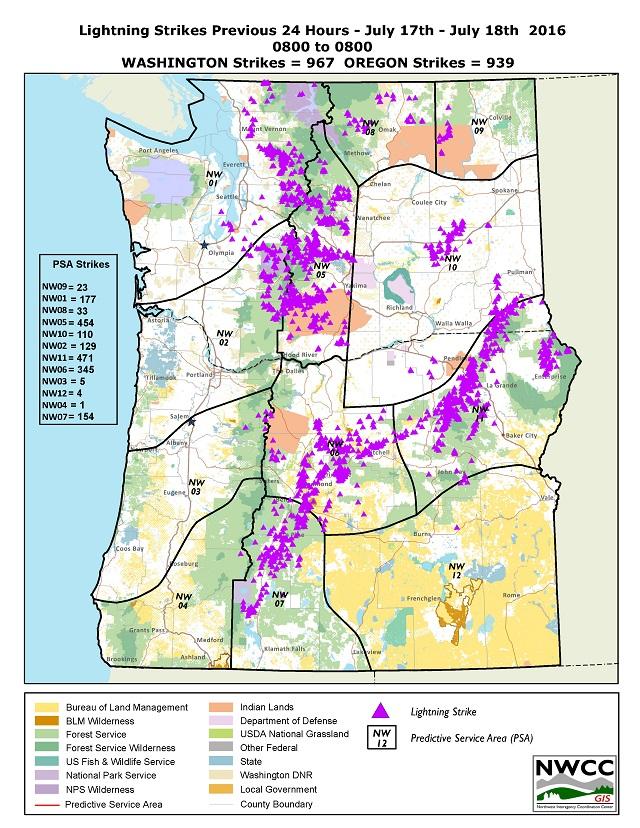 Northwest Interagency Coordination Center 7 18 2016 Oregon