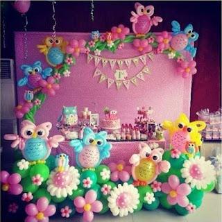 Dekorasi Balon Ulang Tahun Bunga