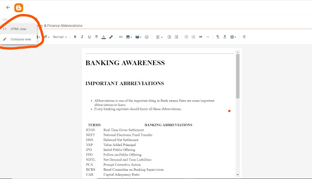ADD TABLE IN BLOGGER POST