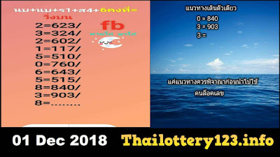 Thai lotto best tips Thai lottery free touch  01 December 2018