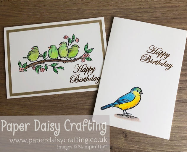 Nigezza Creates with Paper Daisy Crafting & Stampin Up Bird ballad
