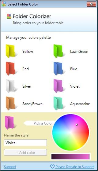 ScreenShot Folder Colorizer