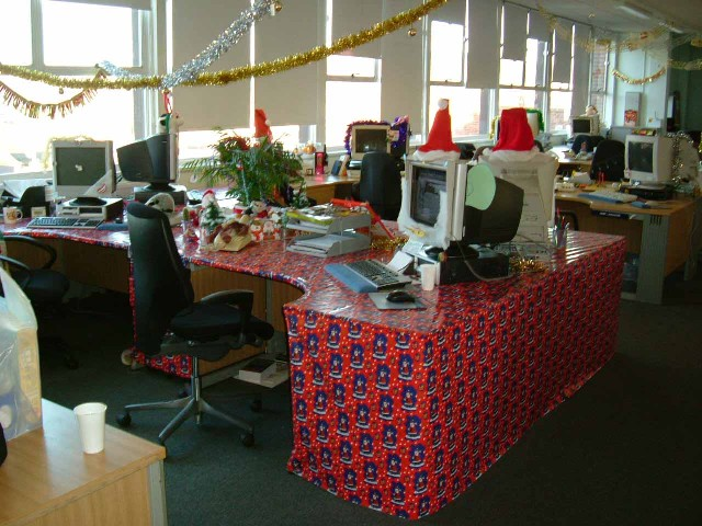 Christmas Decorations At Work A Compeion My Previous Workplace For The Best Decorated Desk Here Are Some Snaps Of Team S