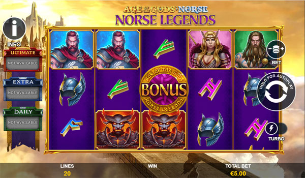 Main Gratis Slot Indonesia - Norse Legends Age of the Gods Norse Playtech