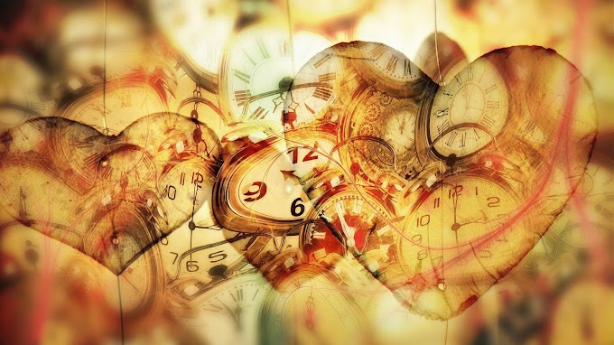 Tempo, Relógio, Antigo, Coração