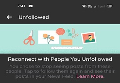 See the Unfollowed Pages, Groups and Friends at One Place