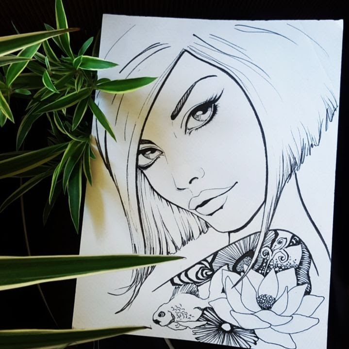 06-Ink-Steph-Diaz-Zahalka-A-Compilation-of-Different-Portrait-Style-Drawings-www-designstack-co