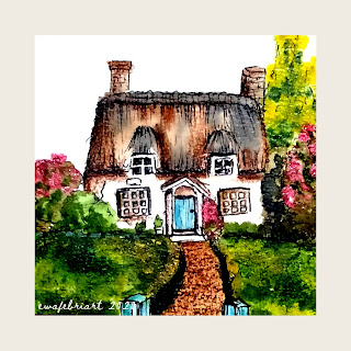 EWAFEBRIART : PAINTING   DREAM HOUSE