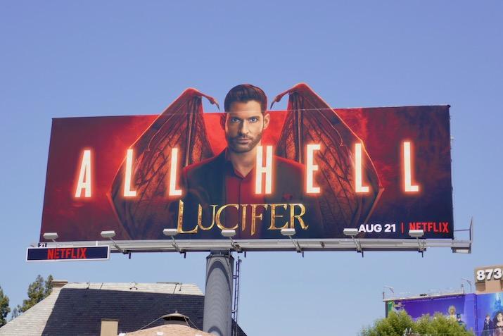 Lucifer season 5 All Hell billboard