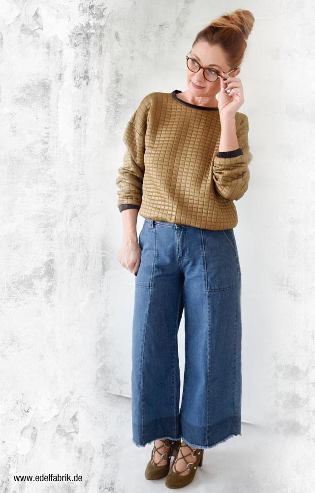 Jeans Culotte einfach kombinieren, Ü 40 Look