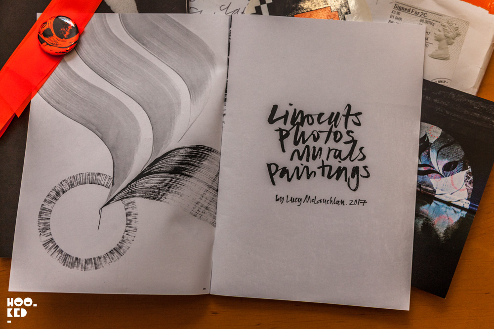 Artist Lucy McLauchlan's self published Tauranga Zine.UK Photo ©Hookedblog / Mark Rigney