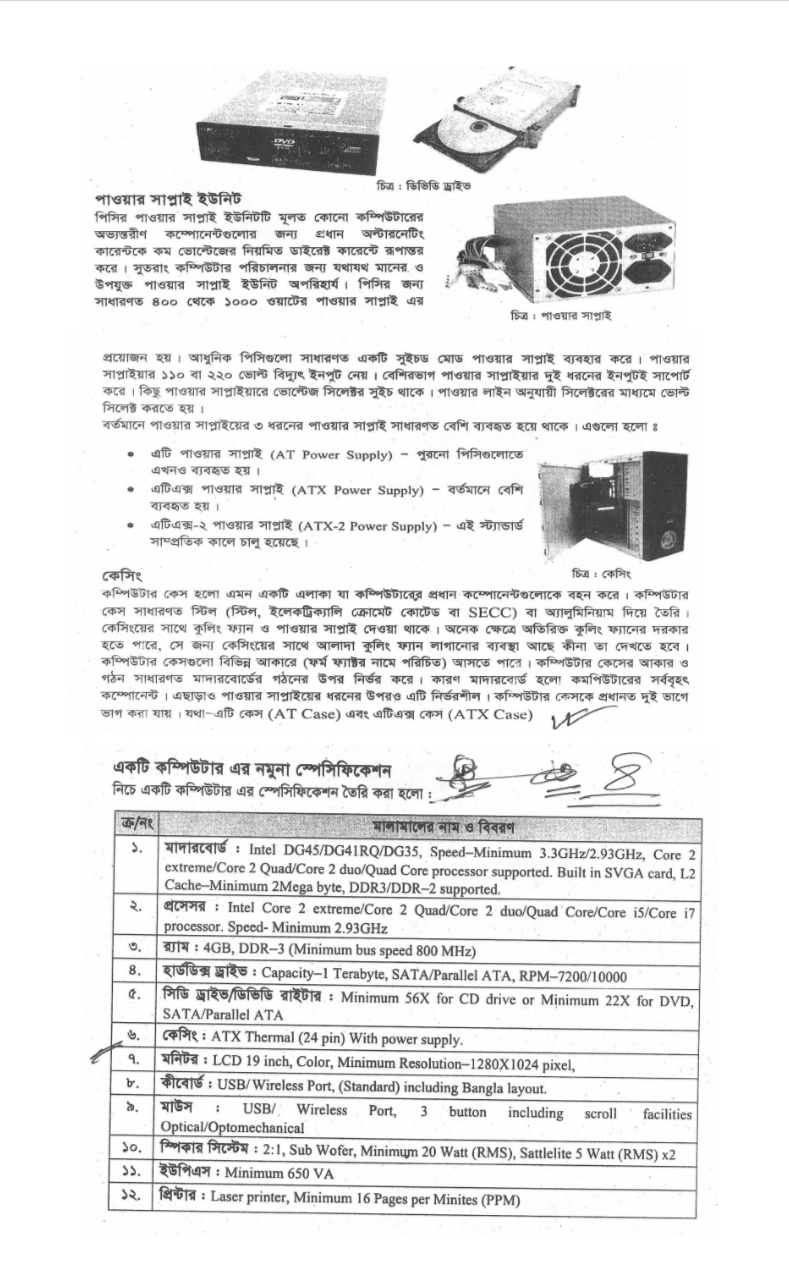 SSC / Dakhil (Vocational) 4th Week Computer and Information Technology-2 Assignment Solution (2nd Paper) 2021 2