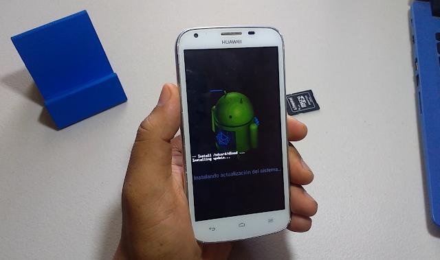 Instalado actualización del sistema Huawei Y600-U151